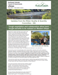 """May 2021 – """"Updates from the Water Quality & Quantity Committee – QQ"""" REVISED 9/21"""