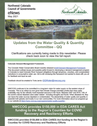"""May 2021 – """"Updates from the Water Quality & Quantity Committee – QQ"""""""
